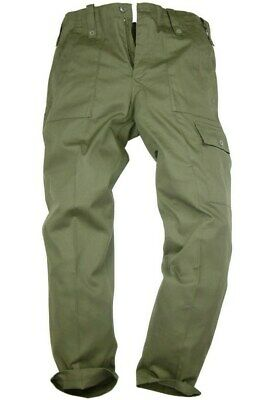 MILITARY OG COMBAT PANTS MENS 34 R Plain olive bottoms Gents Army cargo trousers