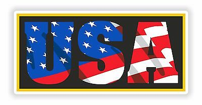 1x Sticker USA American Patriot Decal United States Flag Letters for Bumper Car