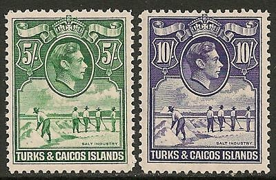 Turks&Caicos Islands 1938 SG 204a+205  MLH  VF