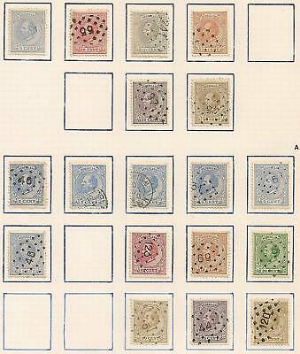 Netherlands 1872 NVPH selection 19L-27L and faults CANC