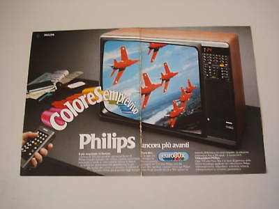 advertising Pubblicità 1980 TELEVISORE PHILIPS