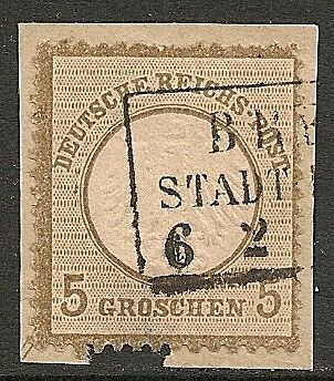 Reich 1872 MI 6 on fragment signed Sommer BPP  CANC  VF