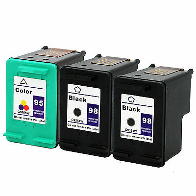 3 pk HP 98 95 Ink Cartridges HP98 HP95 C8764W C8766W