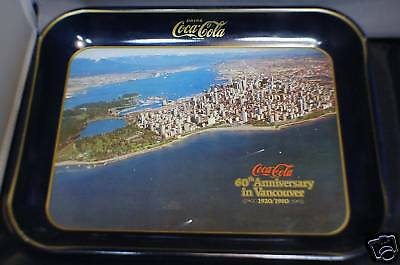 Coca - Cola Tray 60th Anniversary of Vancouver Metal Advertising Tray