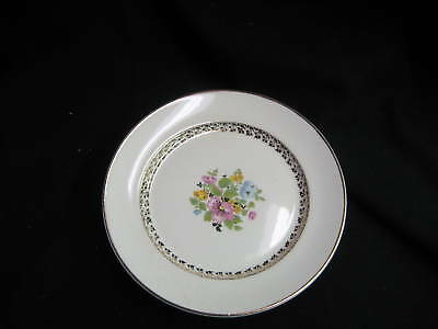 Dessert Dishes Set of 2 Dessert  Derwood George 114B Gold Floral Verge