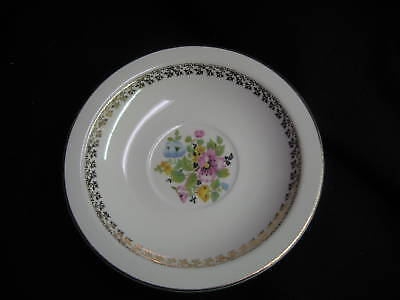 Dessert dish Set of 3 saucers Derwood George 114B Gold Floral Verge