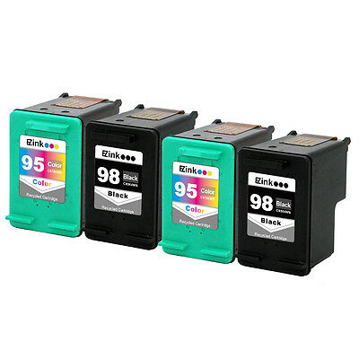 4 pk HP 98 95 Ink Cartridges HP98 HP95 C8764W C8766W