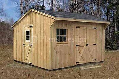 16 x 20 cabin shed guest house building plans 61620 for Saltbox storage shed plans