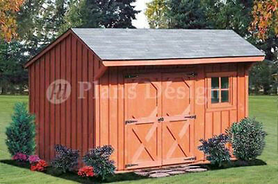 6' x 10' Storage Shed / Playhouse Saltbox Plans, Material List Included #70610