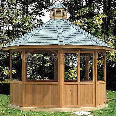 How To Build 12' Octagon Screened Gazebo Plans, Material List Include #10112
