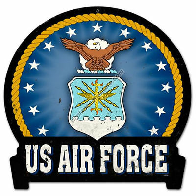 """""""Air Force"""" Vintage Metal Sign - Made in the USA"""