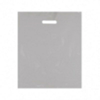"""Plastic Carrier Bags Silver 25's 15""""x18"""""""