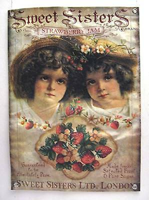 Sweet Sisters Jam London Old Style Canvas Sign Banner