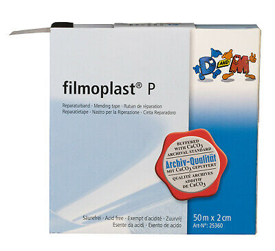 FILMOPLAST P - transparent archival book repair tape - 2cm x 50m roll
