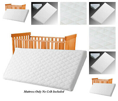 BABY MATTRESS COT/CRIB PRAM SWING BABY BED MATTRESS BREATHABLE QUILTED 84x43x4cm