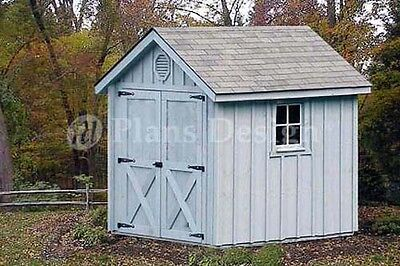 6' x 8' Playhouse / Storage Shed Gable Shed Project Plans, Design # 80608