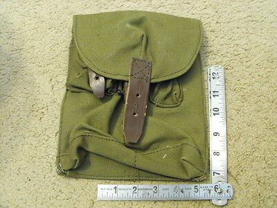 Romanian Green Canvas Long  2-Mag Pouch, Mint Unissued