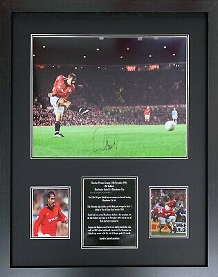 Framed Andrei Kanchelskis Signed Manchester United Photograph See Proof