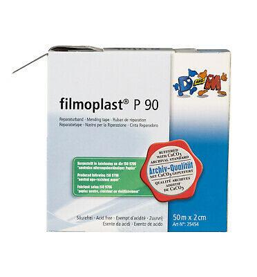 FILMOPLAST P90 - white paperback book repair tape - 2cm x 50m roll