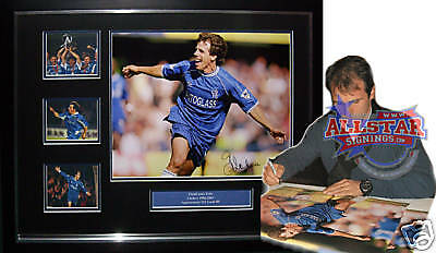 Framed Gianfranco Zola Signed Chelsea Photograph Proof