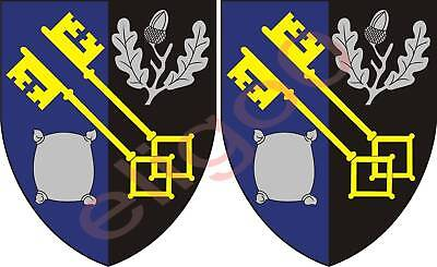 2x worcestershire UNITED KINGDOM coat of arms stickers