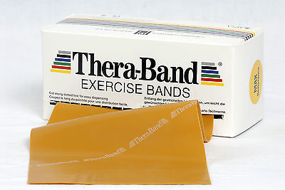 Thera Band 3 m max stark gold Original Übungsband TheraBand Widerstandstraining