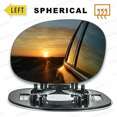 Left Passenger side Convex Wing mirror glass for Citroen C2 C3 2003-10 Heated
