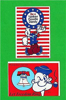 Popeye 1975 Bicentenial Stickers King Feature Old Stock