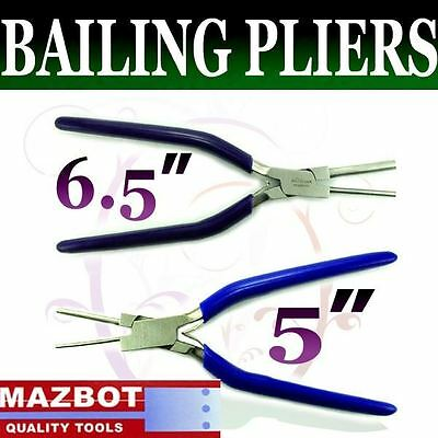 """Mazbot 6.5"""" 3&5mm & 5"""" 1.5&2.5mm Bail Making pliers SET"""