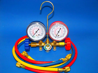 Manifold Gauges Set A/C Tester Service Diagnostic tools R12 R22 R502