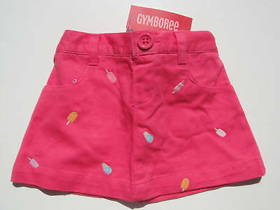 Gymboree NWT POPSICLE PARTY Skirt Skort Ice Cream Pink 18 24