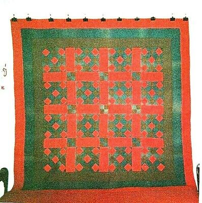 "Amish ""NINE PATCH"" Quilt: 76"" x 76"", c.1920s, from Mifflin County,  PA. Cottons."