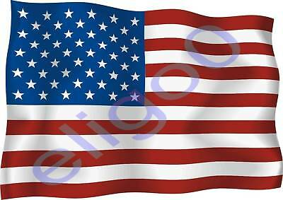 1x UNITED STATES USA STICKER WAVING FLAG BUMPER decal