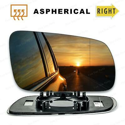 Right Driver side Wide Angle Wing mirror glass for VW Passat 1996-2004 Heated