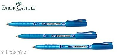 Faber Castell CX7 Super Smooth Roller Point Ball Pens Pen 0.7 Blue (Pack of 10)