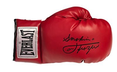 Smokin' Joe Frazier Signed Everlast Boxing Glove See Proof Muhammad Ali