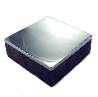 Mazbot Steel Anvil Bench Block with Wood Base