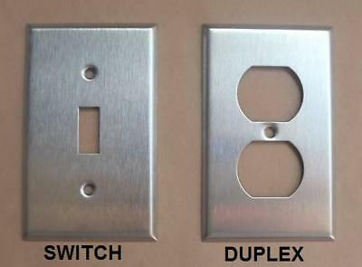 Switch, Duplex Stainless Steel Cover Plate 1 2 3 4 Gang