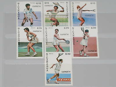Nicaragua 1987 2782-88 CAPEX 87 Tennis Sports Player NH