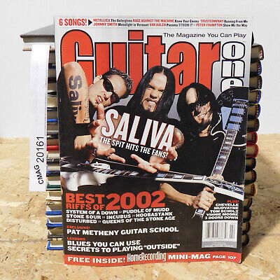 GUITAR ONE MAGAZINE SALIVA SYSTEM OF A DOWN INCUBUS Best Riffs Chevelle2003