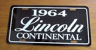 1964 Lincoln Continental License plate car tag 64