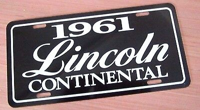 1961 Lincoln License plate tag 61 Continental Mark ll 2