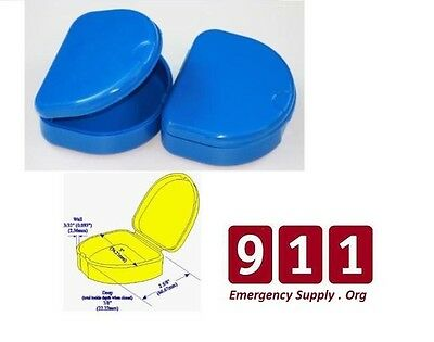 Denture Retainer Case Orthodontic Box Storage Blue USA Seller !