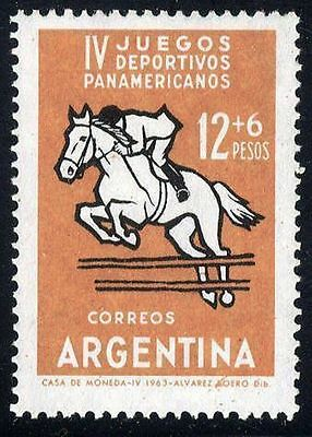 ARGENTINA ARGENTINIEN 1963 820 F Show Jumping Missing Colours VARITY ABART MNH