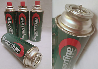 4 Butane Gas Bottles Canisters For Portable Stoves Cookers Grill Heaters