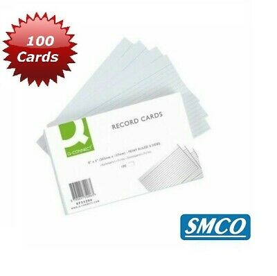 """SMCO Record Index Cards 8"""" x 5""""  Feint Ruled QTY 100 KF35206"""