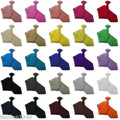 Italian Satin Clip On Tie - All Colours