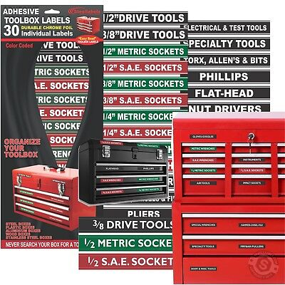 Adhesive TOOLBOX LABELS Organize your Socket Sets