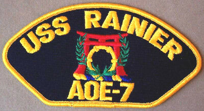 60f1a40c US Navy Rainier AOE-7 Cap Patch - Supply Class Fast Combat Support Ship