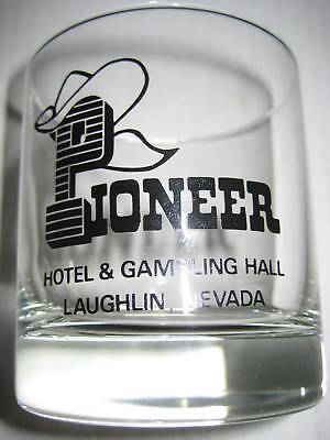 Vintage Pioneer Hotel & Gambling Hall Collectible Glass